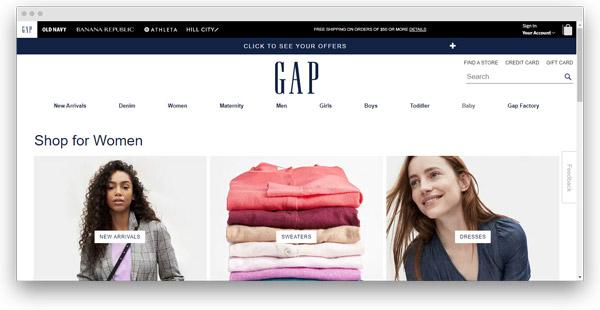 gap ropa mujer
