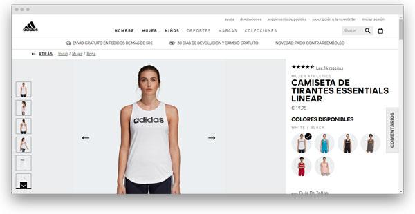 ropa deportiva mujer adidas