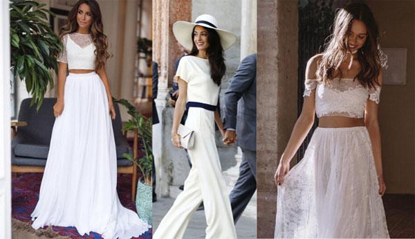 Vestido de dos piezas para boda civil