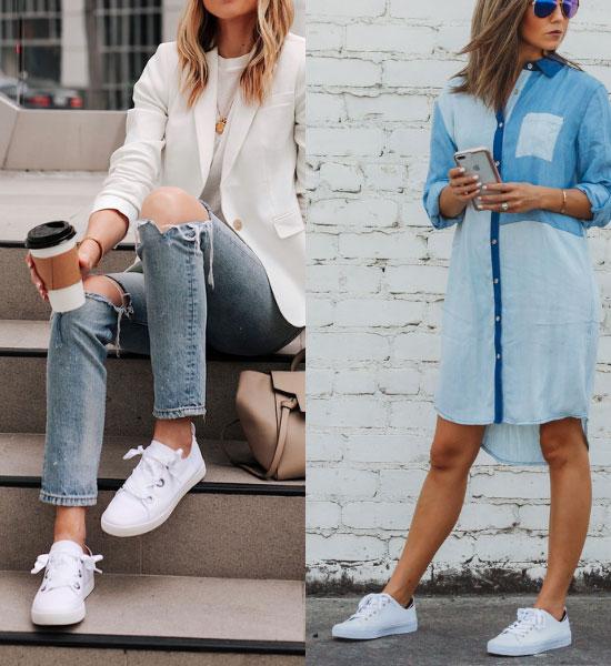 zapatillas blancas para mujeres de 40