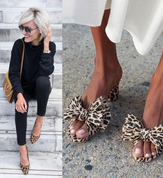 zapatos de animal print